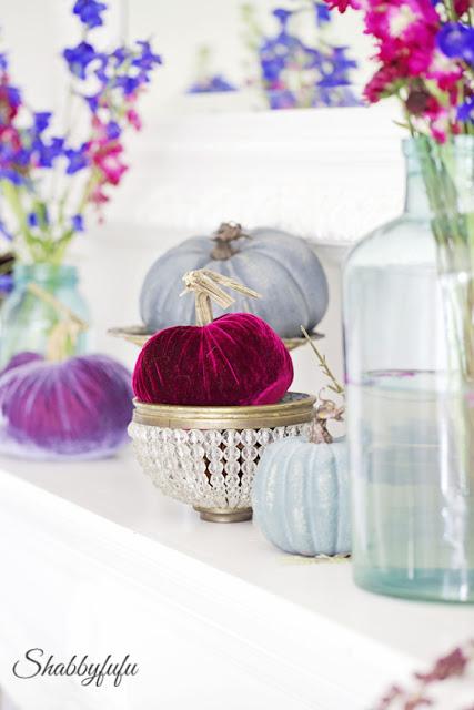 jewel tones for autumn fall decor