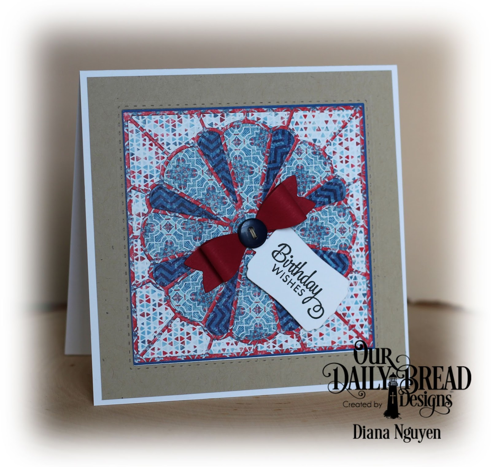 Yours Truly: Happy Birthday Quilt card