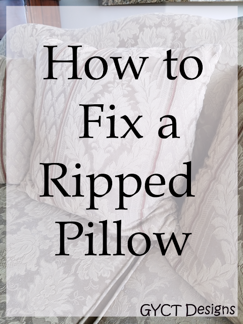 How to fix a ripped pillow seam