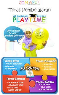 Pendidikkan Teras Al-Quran di Al-Baghdadi Playtime Centre