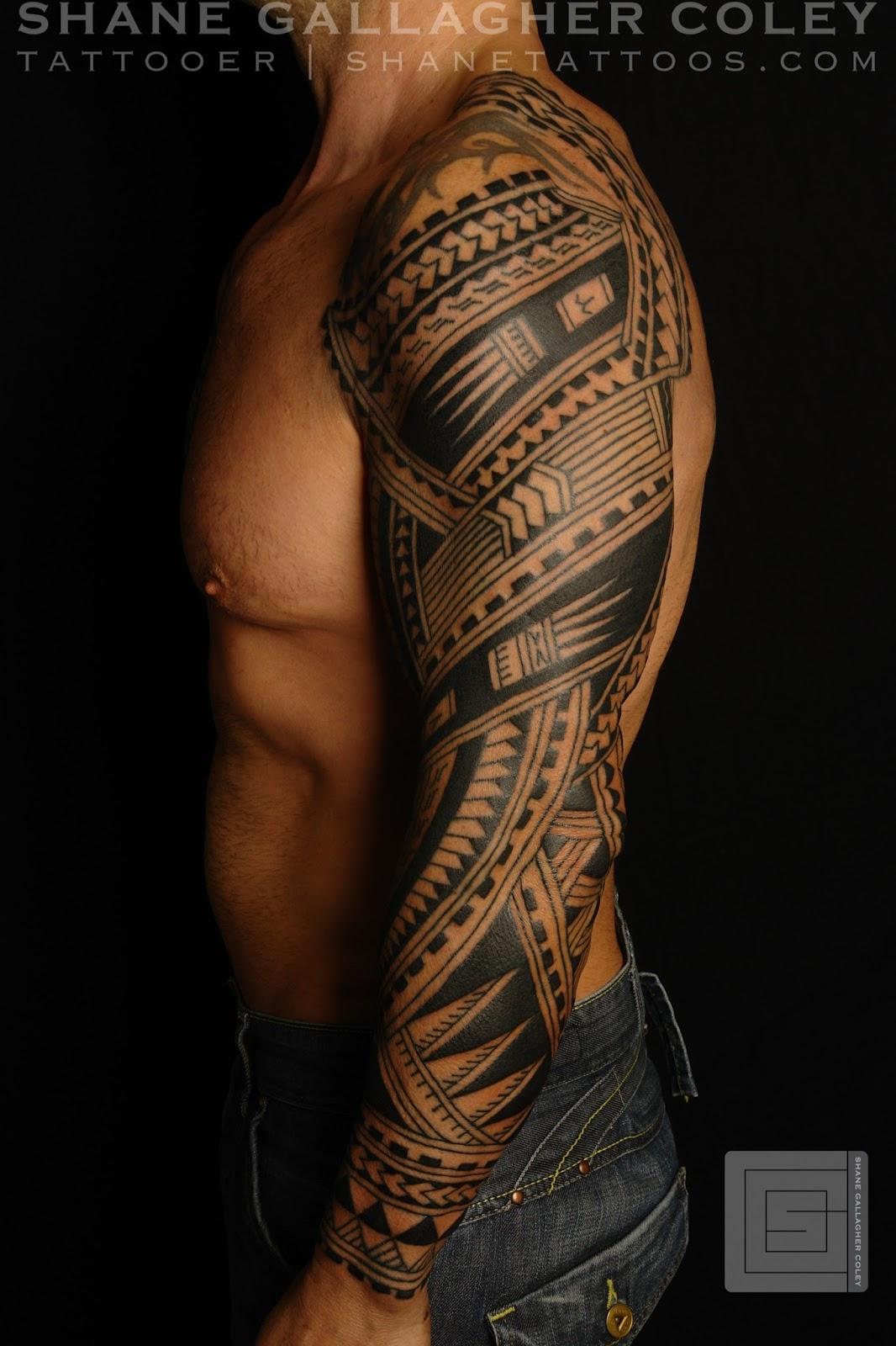 MAORI POLYNESIAN TATTOO: Polynesian Sleeve