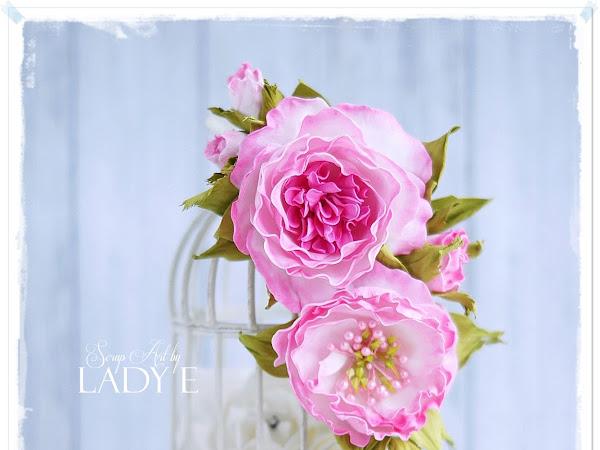 Shabby Chic Foamiran Flower Decoration