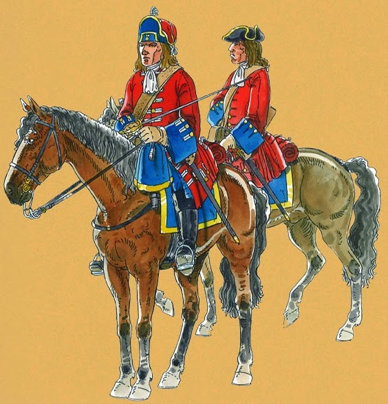 The Royal Regiment of Dragoons circa (spanish) in The War of The Spanish Succession.
