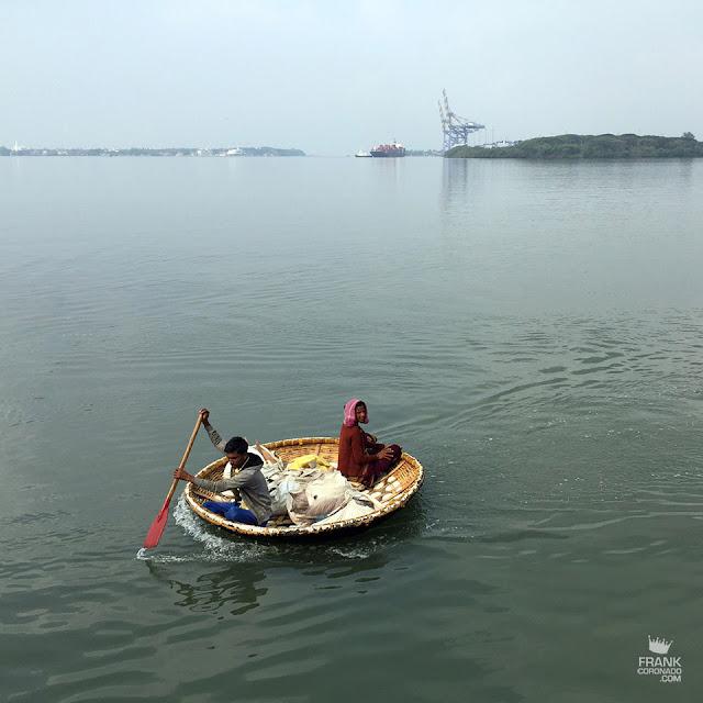 pareja de pescadores en kochi kerala india