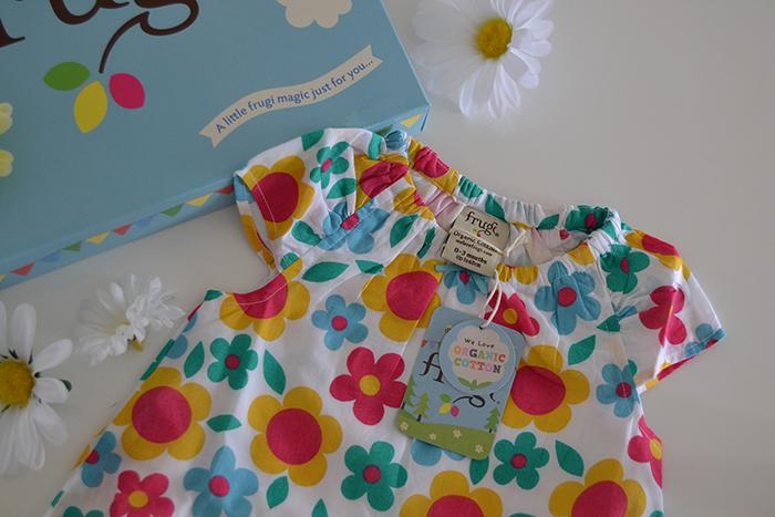 abito floreale neonata