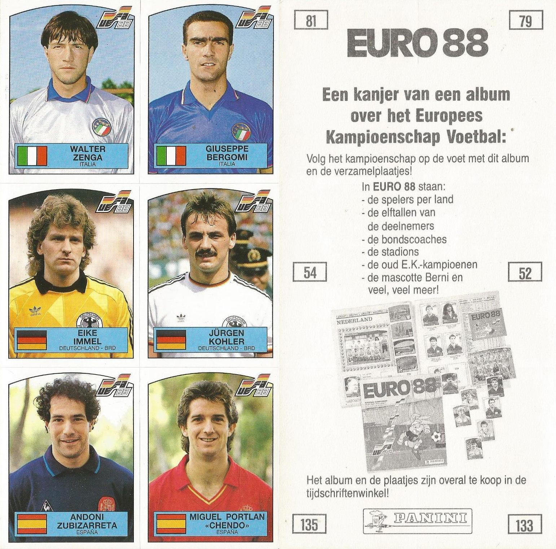 Panini Euro 88 # 61 Andreas Brehme-deutschland-brd