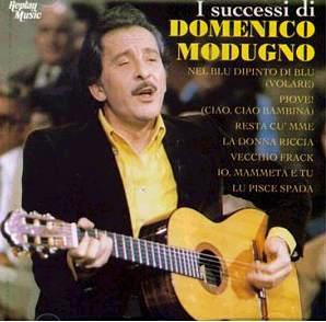 Foto de Domenico Modugno en portada de disco