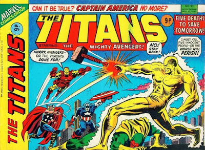 Marvel UK, the Titans #57, The Avengers