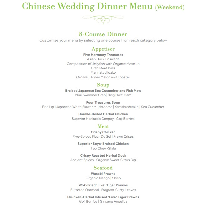 Asian Wedding Food Menu: Saving The Sharks And Recommended Wedding Dinner Venue