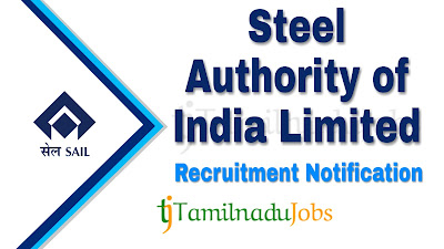 SAIL Recruitment notification of 2019 , govt jobs for iti, govt jobs for dioploma
