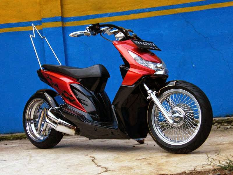 Modifikasi Honda Beat velg ring 17