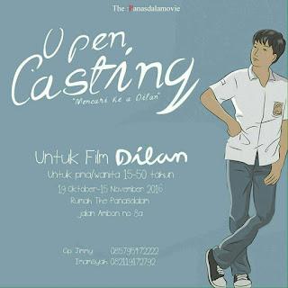 Open Casting 2016 Untuk Film Dilam