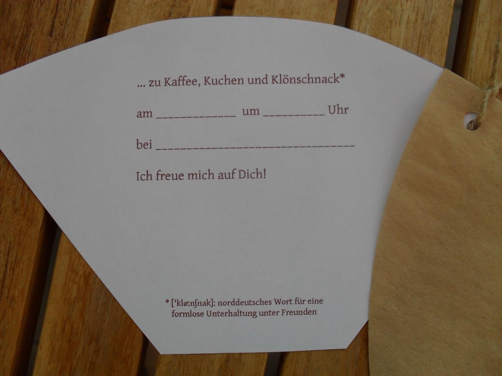Einladung Zu Kaffee Kuchen Und Klonschnack Mausmacherart