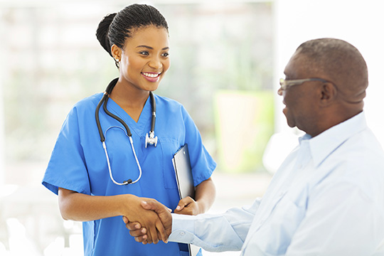 show kindness to patients