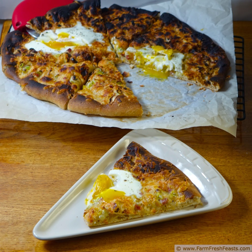 Egg, Country Ham, Asparagus and Leek Pizza--a Peek Behind the Scenes of Pizza Night | Farm Fresh Feasts
