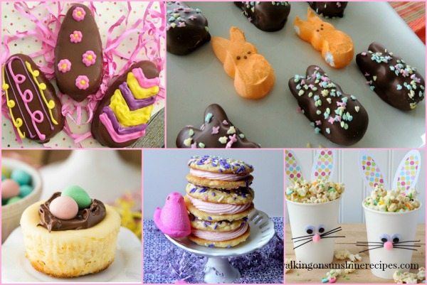 Party: Adorable Easter Treats with Foodie Friends Friday featured on Walking on Sunshine