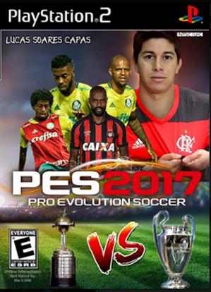 PES BRAZUKAS 2017 com Brasileirão e Libertadores 2017