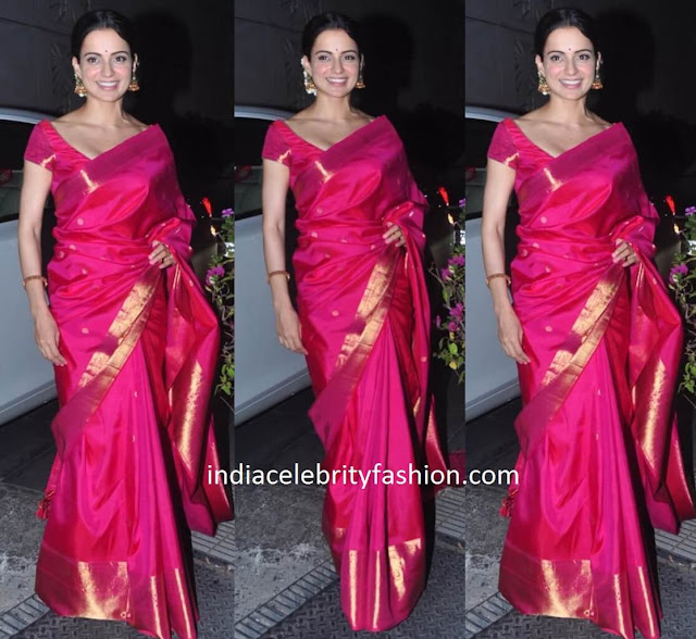 Kangana Ranaut in Temple Sari