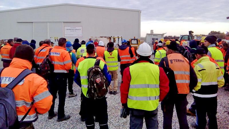 Μαζική συνέλευση των εργαζομένων στο σταθμό συμπίεσης του αγωγού TAP στον Πέπλο Έβρου