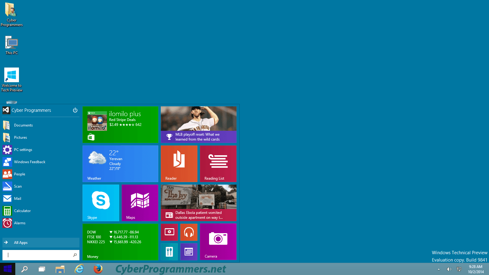 Start menu is back