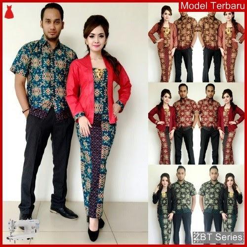 ZBT06509 Kebaya Batik Couple Gempita Kombinasi Polos BMGShop