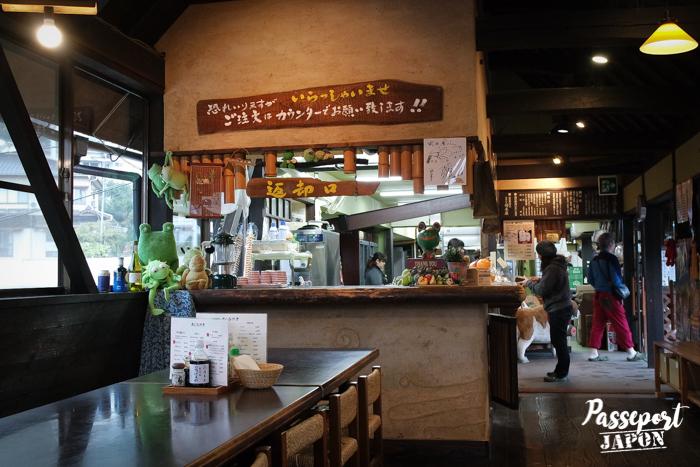 Salon de thé Okamotoya, Myôban, Beppu