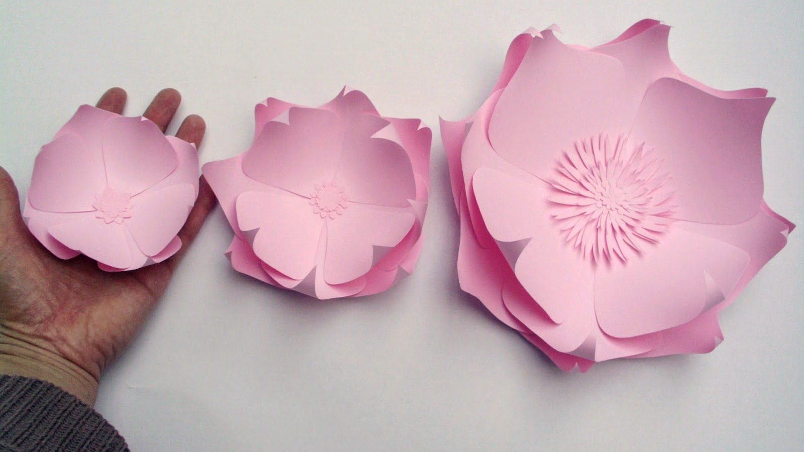 handmade pink large paper flowers