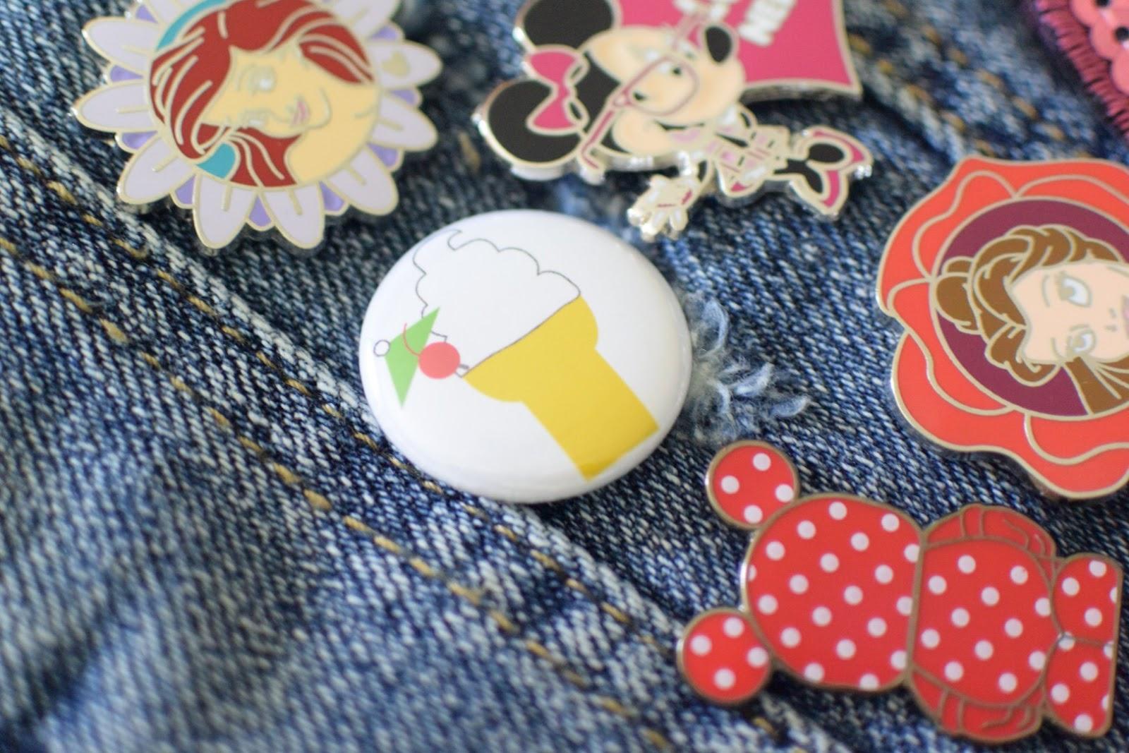 Disney Week DIY - Make Your Own Embellished Patch & Pin