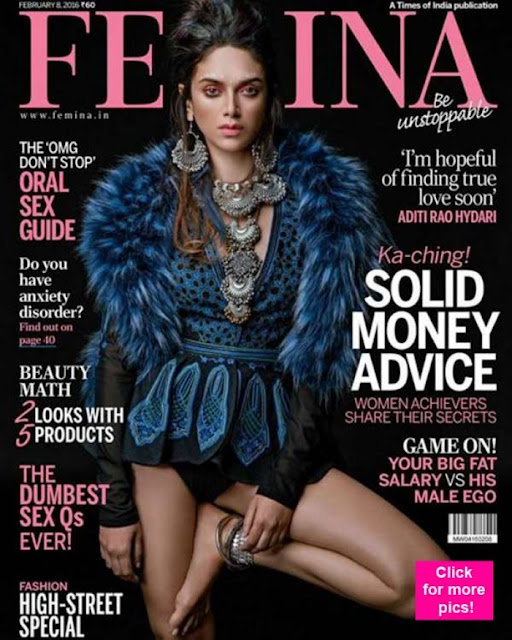 Aditi Rao Hydari On The Cover Of Femina Magazine February 2016