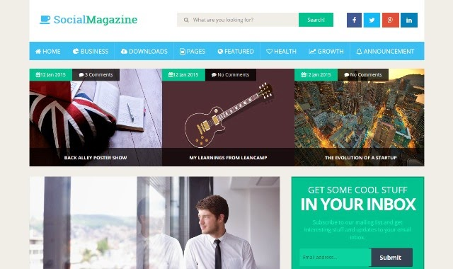Social Mag - Responsive Magazine Blogger Template