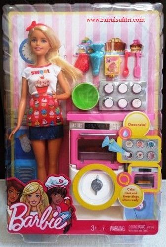 satu set cupcakes barbie cooking masak bersama barbie resep es teler chef stella lowis nurul sufitri blogger