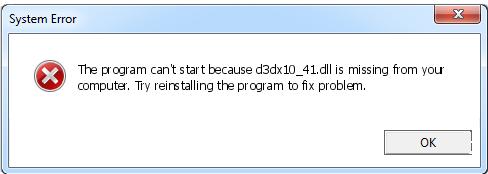 Télécharger D3dx10_41.dll Fichier Gratuit Installer