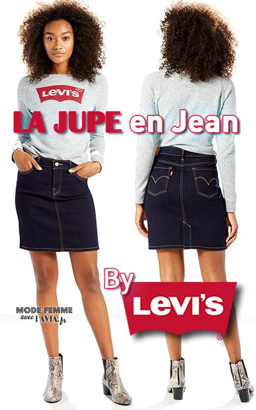 Jupe en jean courte LEVI'S Darkest Sky