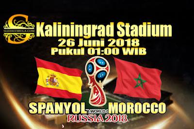 AGEN BOLA ONLINE TERBESAR - PREDIKSI SKOR PIALA DUNIA 2018 SPANYOL VS MOROCCO 26 JUNI 2018