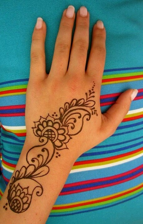 Basic Henna Tattoo Designs: Simple And Elegant Henna Tattoo Designs For Hands