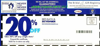Bed Bath and Beyond coupons march