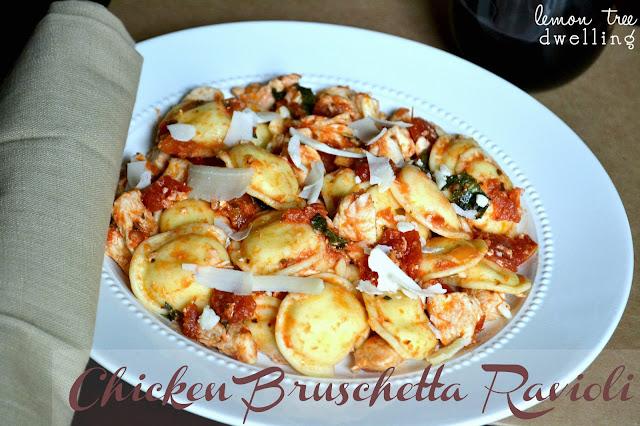 Chicken Bruschetta Ravioli