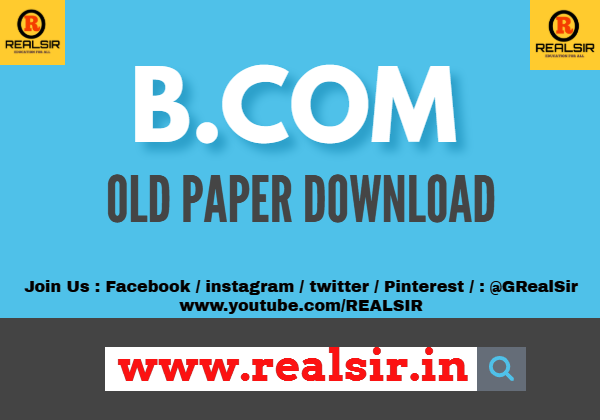 B.com old paper Download