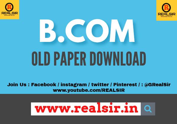 B.com old paper Download
