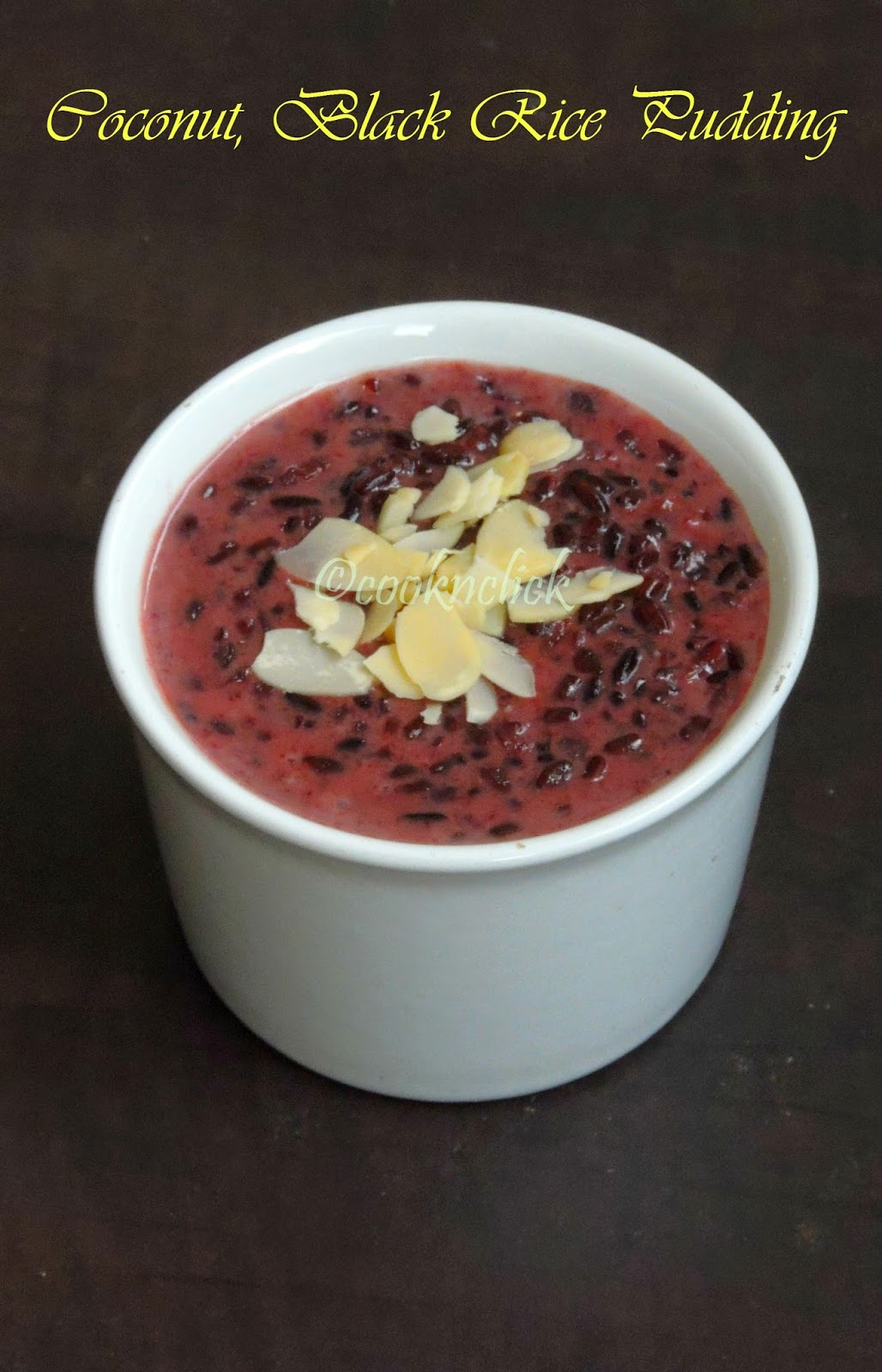 Vegan Coconut milk and black rice pudding