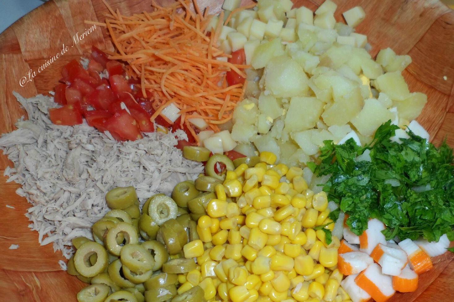 recette salade de pommes de terre au surimi recette de cuisine. Black Bedroom Furniture Sets. Home Design Ideas