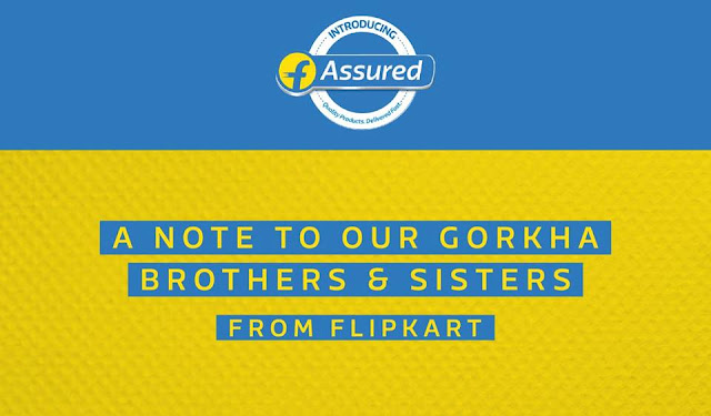 Gorkhas dissatisfied with Flipkart's response to protest of Racist Ad.