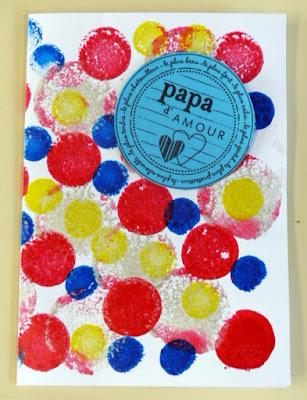Fête des pères - carte des PS maternelle