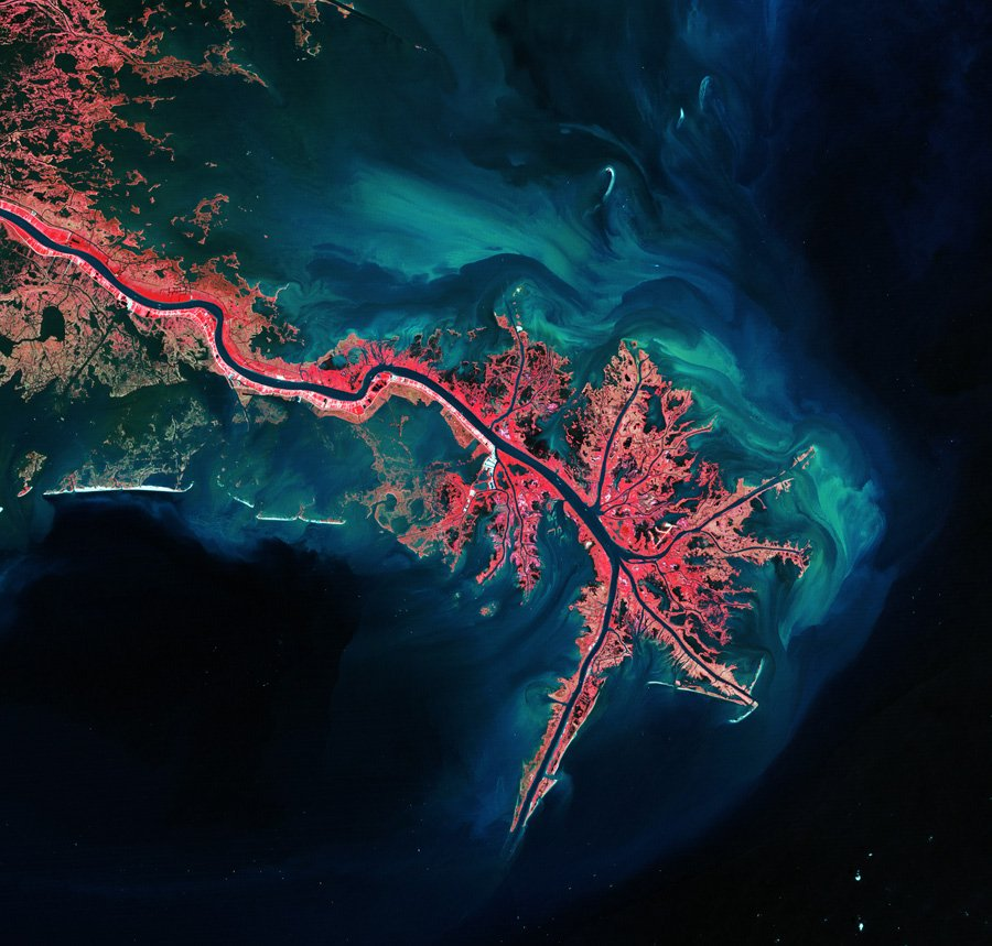 The Mississippi River Delta in Louisiana