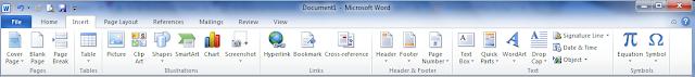 Fungsi Menu Bar Pada Microsoft Word 2010