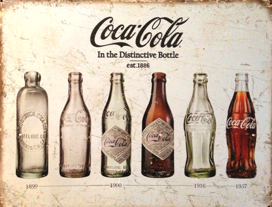 Coca-Cola contour bottle evolution