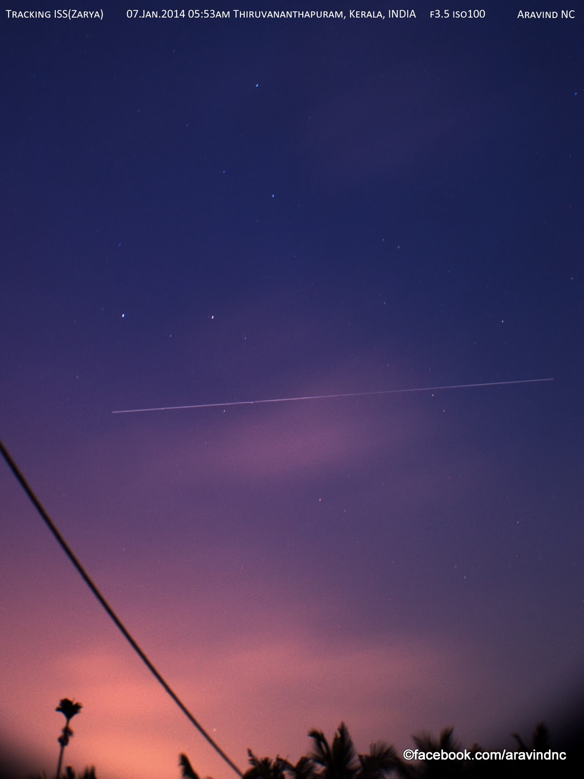Aravind is Online: Rare sighting of International Space ...