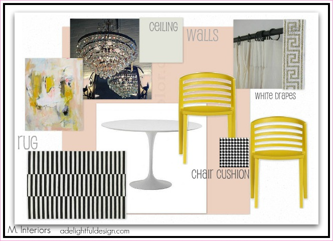 Abby Manchesky Interiors Blush Pink Dining Room Design Board