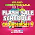 Lazada GRAND CHRISTMAS SALE Flash Sale Schedule (December 9)