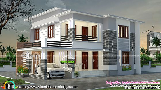 2050 square feet, 4 bedroom flat roof house